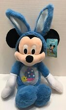 "Disney Mickey Mouse Blue Bunny Plush 19"" Stuffed Easter Rabbit Just Play NEW"