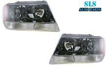 99-04 Jeep Grand Cherokee Laredo Headlight Headlamp Pair Set