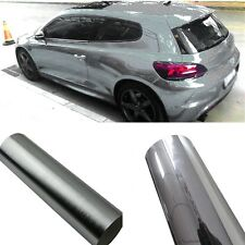 Silver Chrome Mirror Vinyl Wrap Film Car Sticker Decal Sheet No Bubble 6''x60''
