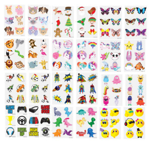24 TEMPORARY TATTOOS Kids Childrens Girls Boys Novelty Party Loot Bag Fillers