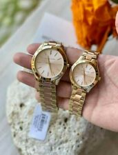 Michael Kors Slim Runway Couple Watch Two tone Rosegold Dial