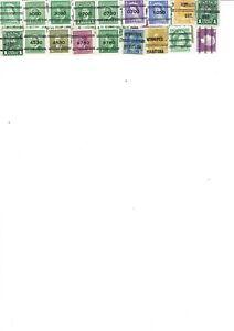 Canada Precancel Stamps (39 stamps)