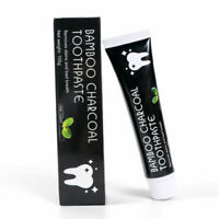 Bamboo Charcoal Teeth Whitening Toothpaste Black Removes Stains FDA APPROVED