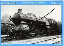 Dampflok K.Bay.Sts.B. S 2/6 3201 später DRG 15 001 Hbf. München AK (*7046)