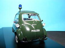 """BMW Isetta """"Landespolizei"""" in Grun. Fitted BLUE LIGHT1:43rd. Scale SCHUCO  Model"""