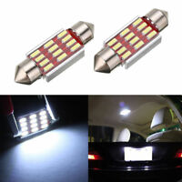2x 36mm 4014 12SMD C5W LED Light Car Canbus Festoon Dome License Plate Lamp