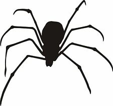 BLACK WIDOW/SPIDER Sticker Car/Bike/Wall/Window *Colour & Size Choice* (stsh/12)
