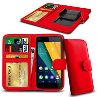 Clip On PU Leather Flip Wallet Book Case Cover For Wiko Lenny2