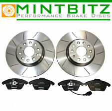 Fiat 500 1.4 Abarth 02/09- Front Brake Discs+Pads Dimpled & Grooved