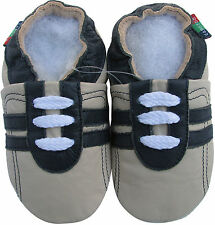 shoeszoo sports black grey 18-24m S soft sole leather baby shoes