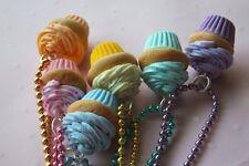 Cute Miniature Cupcake Custom Color Necklaces/Food Jewelry KawaiiCuteCreation