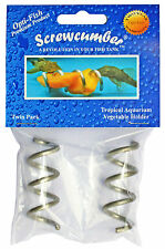 SCREWCUMBER - TROPICAL FISH FEEDER - FOR PLECO, CLOWN LOACH ETC 2X Twin packs