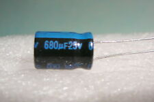 680UF 25V 680MFD LOT OF 10 JAMICON RADIAL CAPACITORS 105c USA FREE SHIPPING