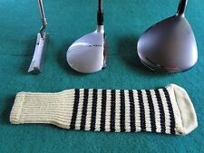 New knitted zebra style Fairway & Driver club head cover Vegas Gold / Black