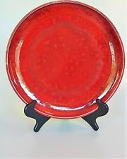 Oscar Bucher Flame Glazed Ceramic Platter in the Chinese Ming Design Vintage