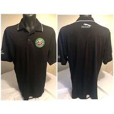 Men's Large Jaguar Club Mexico Black 50th Anniversary Polo Shirt Patch 1961-2011