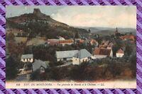 CPA 63 - Env du Mont dore - Vue generale de Murols et le chateau