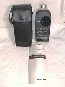 RADIO SHACK Digital Sound Level Meter 33-2055 + Case WORKS