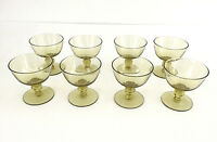 8 vintage mid century modern glass dessert dishes / cups 1960's 1970's