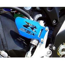 Suzuki GSXR CANDY BLUE Logo Heel Guards / Plates GSX-R 600 750 1000
