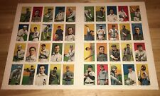 1983 Renata Galasso 1909-1911 T206 Uncut Sheet Of 40 Cards With Honus Wagner
