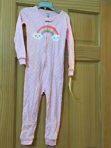 New Carter's 1-Piece Rainbow Snug Fit Cotton Footless Pajama PJs Girl Sleeper