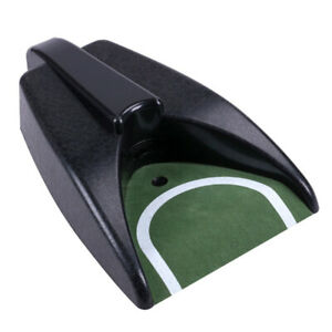 Golf Automatic Putting Cup Ball Return Device Home Office Training Green Mat