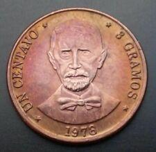 Dominican Rep. Un Centavo 1978 3 Gramos. KM#48. Bronze 1 Cent Coin. J.P. Duarte.