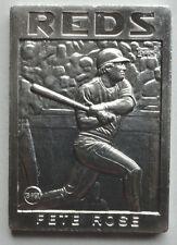 Pete Rose 1986 Topps Gallery of Champions Aluminum Cincinnati Reds
