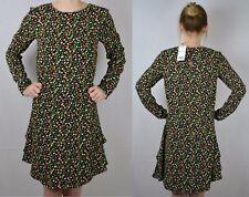 NEXT NEW UK 10 LADIES BLACK FLORAL DRESS RRP £36