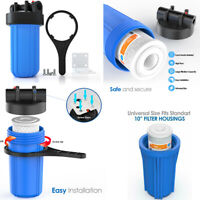 "4.5x10"" Big Blue Whole House Water Filter System Carbon Block Sediment Filter"