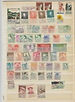 WORLDWIDE 2 STOCK PAGES COLLECTION LOT #2 MEXICO PERU MORE $$$$$$$