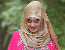 Scarf Glitter Scarf Lurex Hijab Long Wrap Skinny Tasseled Shawl style Head Wrap