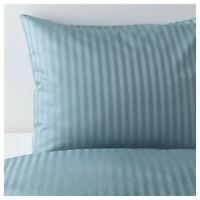 Ikea NATTJASMIN Twin Duvet Cover w/Pillowcase Bed Set Striped Blue - NEW