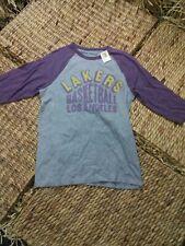 Los Angeles Lakers Mens Junk Food Raglan 3/4 Sleeve Size Medium Gray Shirt