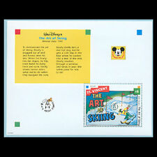 St. Vincent, Sc #1798, MNH, 1992, S/S, Disney, Art of Skiing, AS8Z-A