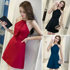 Korean Women Evening Party Cocktail Slim Halter Summer Short Mini Dress Clubwear