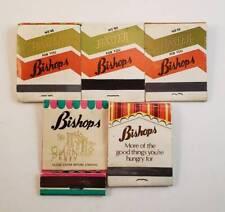 Vintage Lot of 5 Bishops Buffet & Cafeterias Restaurant Adv Matchbooks Matches