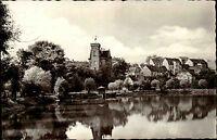 RONNEBURG Thüringen AK DDR Schloss mit Baderteich alte Postkarte gebraucht ~1960