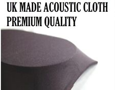 HIGH QUALITY BLACK SPEAKER FABRIC / CLOTH / GRILLS / CABINETS - 850mm x 500mm