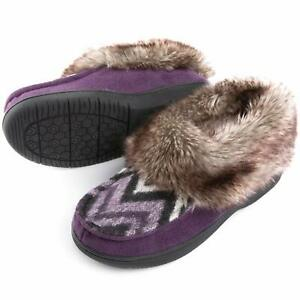 Faux Fur Bootie Slippers Memory Foam Winter House Shoes US 6-11 New Gift FAST