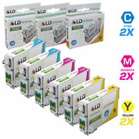 LD Reman HY Ink Cartridge for Epson T126 126 6 Set: T126220 T126320 T126420