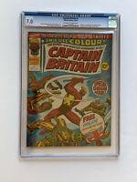 Captain Britain #1 - CGC 7.0 - 1977 - Origin & 1st App of Captain Britain w/Mask