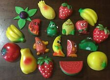 Vintage Fruit Anthropomorphic Refrigerator Magnet Lot