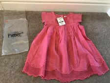 Next Girls Pink Embroided Top Tunic Blouse, Age 4-5 - Brand New