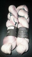 2 SKEINS OF MADELINETOSH MO LIGHT YARN-MOHAIR AND MERINO,COLOR ROSE