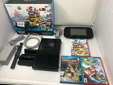 Nintendo Wii U Super Mario 3D World Deluxe Set 32GB Black Console w/ Games