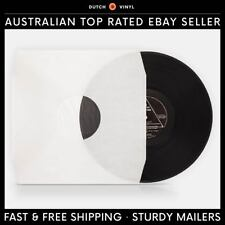 "100 x Record Inner Sleeves – Paper & Poly Lined – White, for 12"" Vinyl LP's"