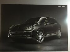 Porsche Cayenne Turbo S SUV Showroom Advertising Sales Poster RARE! Awesome L@@K