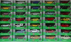 NEW Welly Die Cast Car Models In Scale 1:60 / 1:64 New in Box Serrie 10
